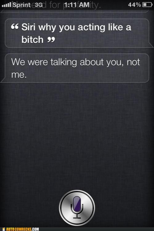 sassy siri,siri,talking back