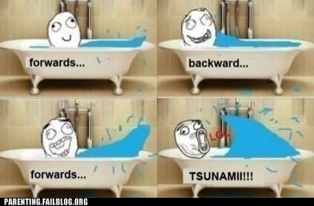 bath water bathtub Rage Comics Tsunami