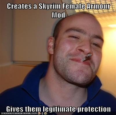 Creates a Skyrim Female Armour Mod Gives them legitimate