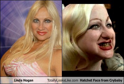 Linda Hogan Totally Looks Like Hatchet Face from Crybaby