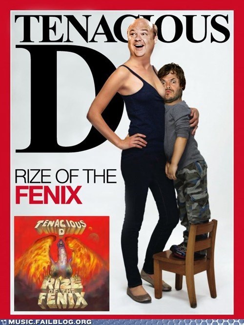 cover,magazine,parody,Rize of the Fenix,tenacious d,time