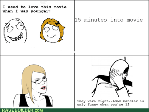 adam sandler,movies,picard facepalm,Rage Comics
