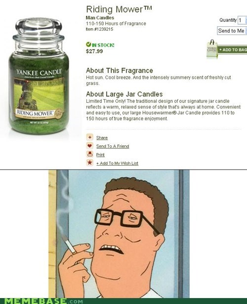 candles hank King of the hill Memes mower - 6240646656
