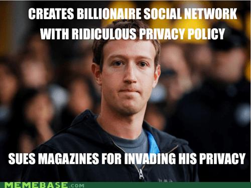 facebook Mark Zuckerberg privacy ridiculous Scumbag Steve - 6240650752