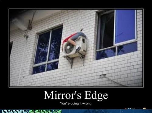 IRL mirrors edge parkour skill - 6240656128