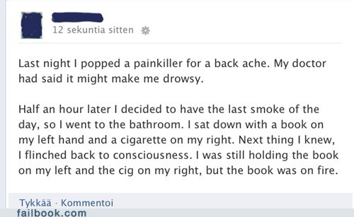 painkillers,cigarettes