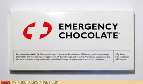 chocolate emergency label wrapper - 6241076992