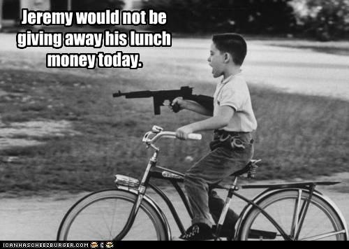 angry bike boy gun kid Photo - 6241079552