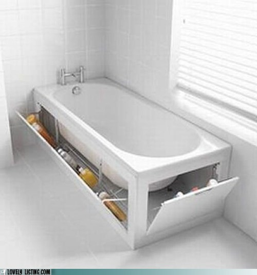 bathroom bathtub hidden storage tub