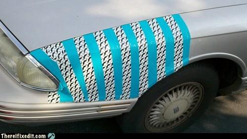 car fail car fix car hood duct tape mustache - 6241574912