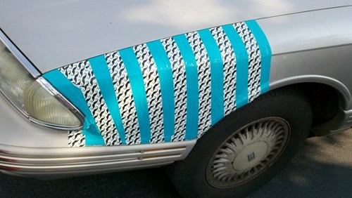 mustache car hipster funny ductape - 6241576192