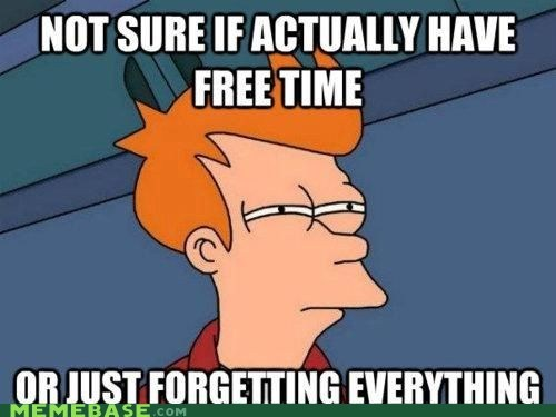 difference forgetfulness free time fry memory negligible obligations - 6241728768