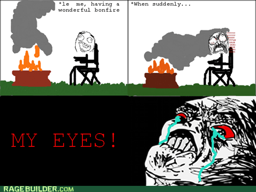 camping,fire,Rage Comics,raisin rage,smoke
