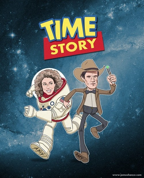 crossover,doctor who,Fan Art,toy story