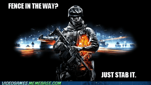 Battlefield 3,destructible,fence,FPS,stab,the internets