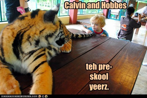 best of the week,calvin and hobbes,early years,Hall of Fame,kid,kids,preschool,tail,tiger,tigers