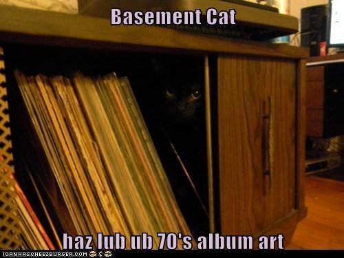 70s album art basement cat dark love records vinyl - 6243028480