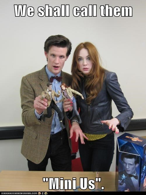 action figures,amy pond,doctor who,dolls,karen gillan,Matt Smith,mini me,the doctor