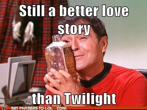 alcohol best of the week hug james doohan KISS love scotsman scotty Star Trek still a better love story whiskey