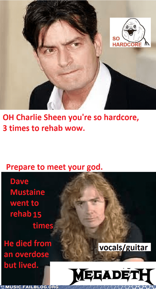 Charlie Sheen,dave mustaine,drugs,megadeth