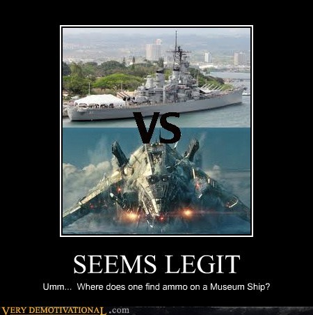 SEEMS LEGIT Umm... Where does one find ammo on a Museum Ship?
