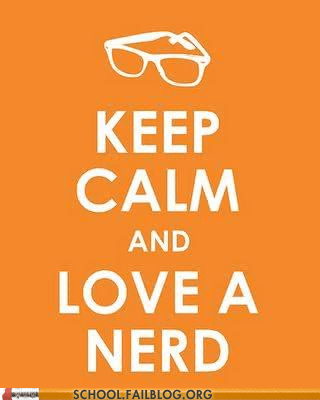 Hall of Fame keep calm love a nerd nerds posters - 6245398272