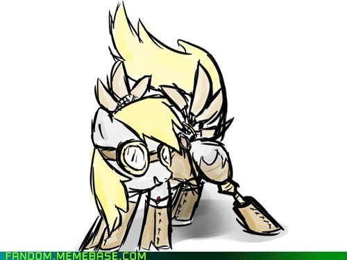 derpy hooves,Fan Art,my little brony,Steampunk