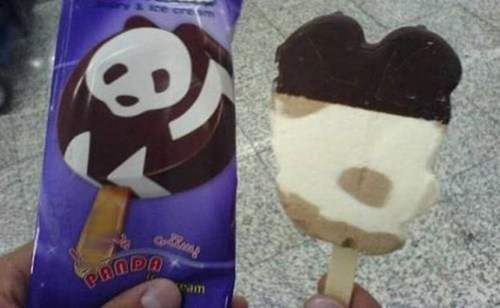 frozen treat,ice cream,panda,wrapper