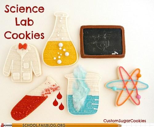 beakers chalkboard cookies icing nerds science - 6246248448