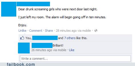 alarm,college,drinking,drunk,revenge