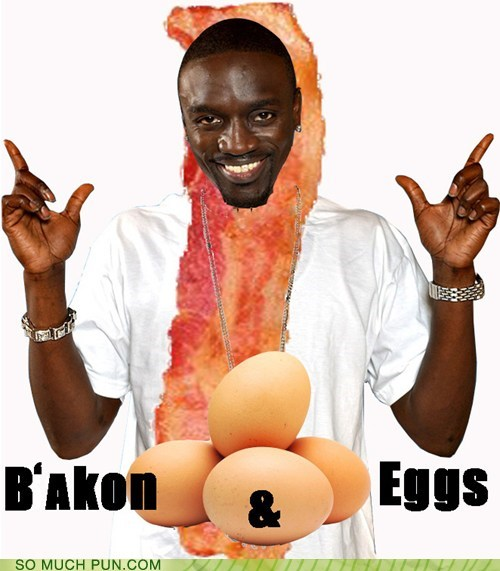 akon,bacon,eggs,homophone,literalism,shoop,suffix