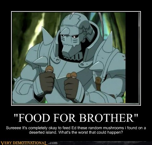 food,full metal alchemist,idiots,Mushrooms
