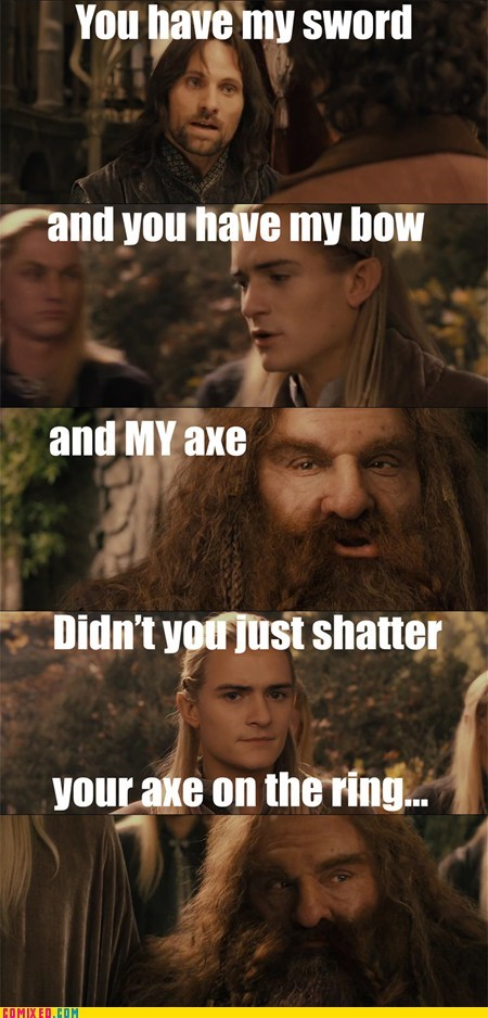 axe best of week gimli Lord of the Rings Memes Movie - 6247215872