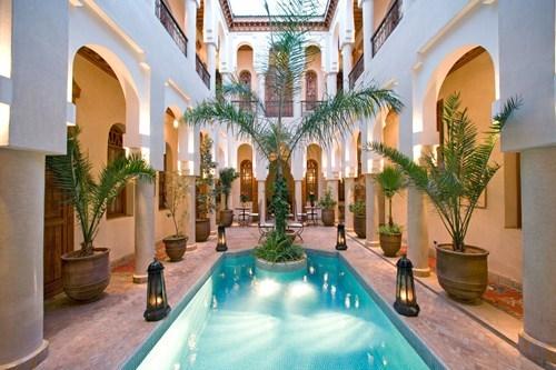 architecture,hotel,morocco,pool