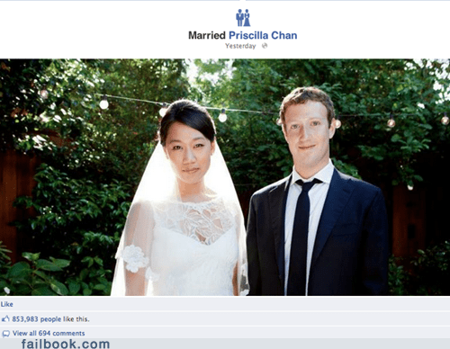 Mark Zuckerberg marriage married wedding zuckerberg