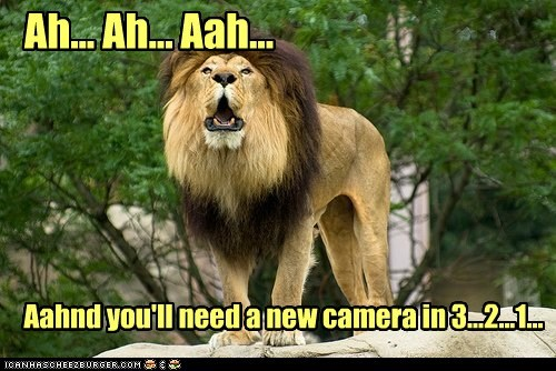 Ah... Ah... Aah... Aahnd you'll need a new camera in 3...2...1...