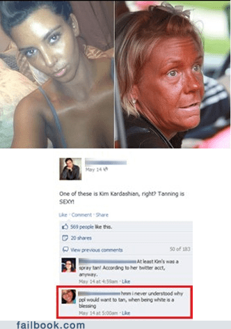 blessing racism racist tanned tanning white - 6248321536