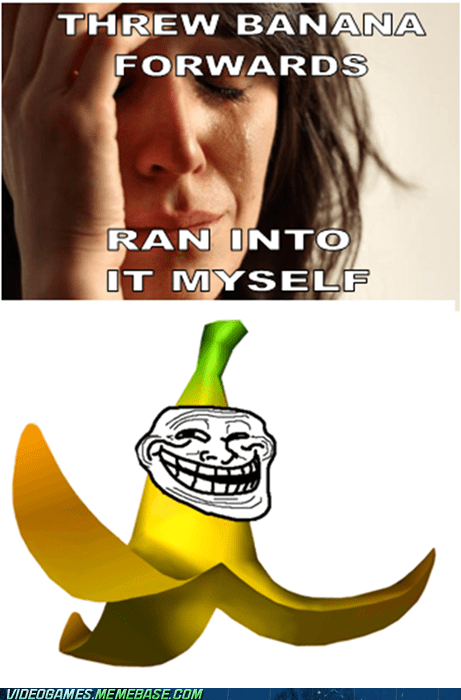 banana First World Problems Mario Kart meme - 6248426496