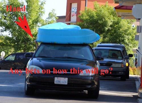 car rack kiddie pool