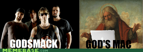 apple,godsmack,How People View,How People View Me,mac,puns,steve jobs