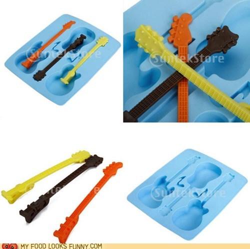 guitars ice cube tray ice cubes necks plastic - 6249005312