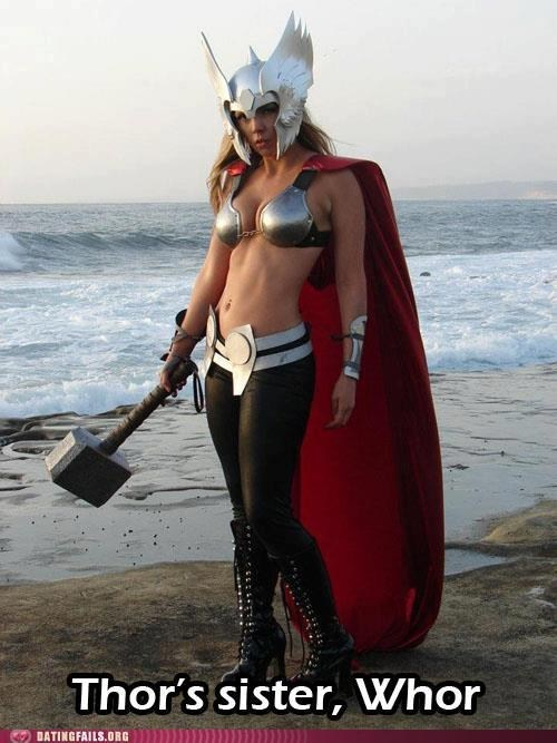 avengers,cosplayed,superheroes,thors-sister,whor