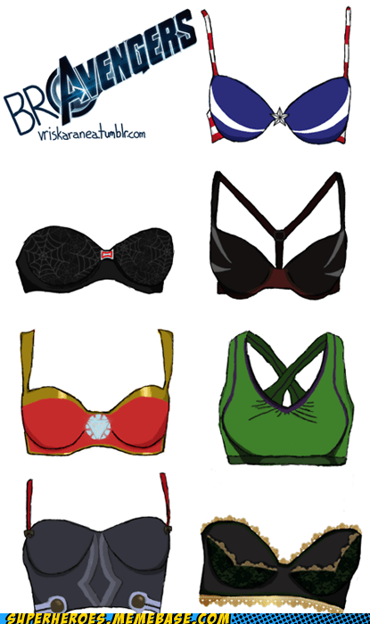avengers Awesome Art bra design Nick Fury - 6249754112