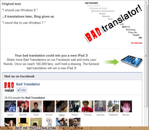 Bad Translator windows windows 7 Windows 8 - 6249844992