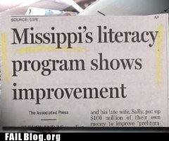 fail nation,g rated,literacy program,mississippi,newpaper