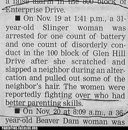 dispute,fight,newspaper,Parenting Skills