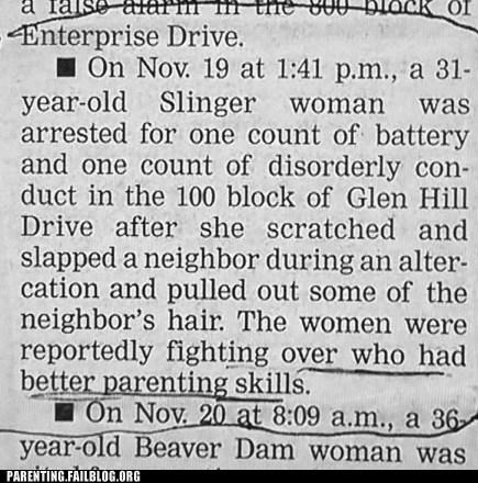 dispute fight newspaper Parenting Skills