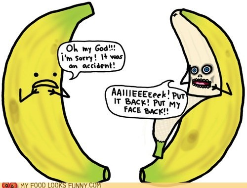 banana face horror omg peel scary - 6250206464
