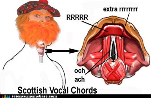 Fake Science MAD SCIENCE scottish vocal chords - 6250209024