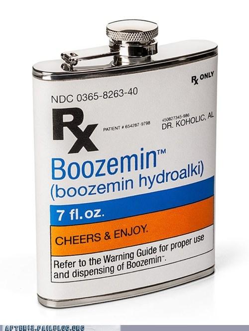 boozemin boozemin hydroalki flask prescription rx whiskey - 6250302720